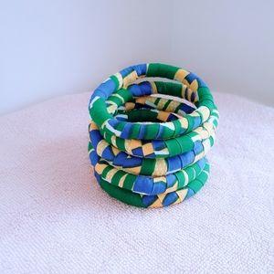 5 Sets Fabric Bracelets